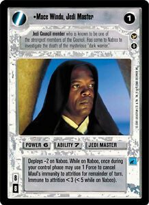 Mace Windu, Jedi Master [Mint/Near Mint] THEED PALACE star wars ccg