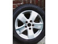 17inch alloy wheel with tyre