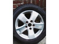 17 inch alloy wheel with tyre