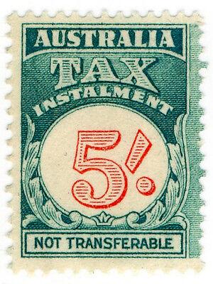 (I.B) Australia Revenue : Tax Instalment 5/-