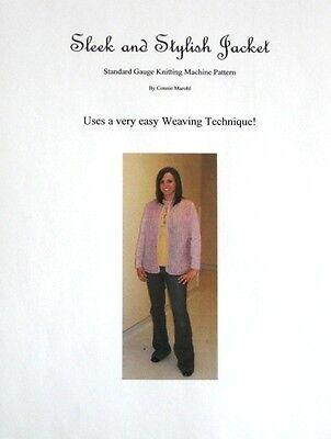 Knitting Machine JACKET Pattern w/  Weaving Technique!