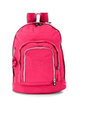 KIPLING Hal Expandable Total Vibrant Pink Backpack Student RARE Carry On