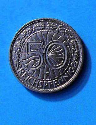 WEIMARER REPUBLIK 50 REICHSPFENNIG 1931 F