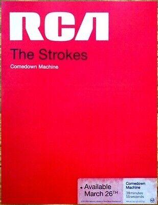 THE STROKES Comedown Machine RARE Ltd Ed Mini Poster Window Cling +FREE Stickers