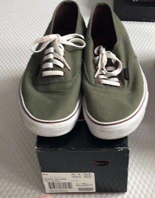 Mens Vans Khaki Green Size 9.5