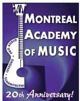 MONTREAL ACADEMY OF MUSIC TEACHERS NOW RECRUITING MUSIC TEACHERS