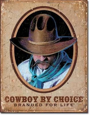 Cowboy USA Wildwest Vintage Style Metall Deko Schild