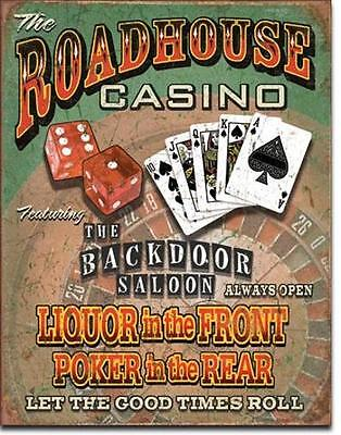 Roadhouse Casino Nevada Saloon USA Metall Plakat Schild