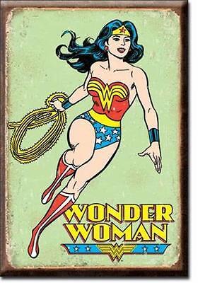 Wonder Woman Magnet Magnetschild aus USA - Retro Design