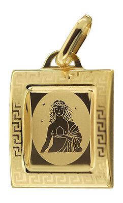 Sternzeichen Jungfrau Gold 585 Anhänger 14 Karat Kettenanhänger Gelbgold (Gold Ketten Frau)
