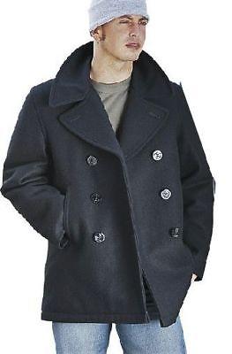 US NAVY PEA COAT PEACOAT MANTEL JACKE WOLLE MARINE WINTERMANTEL NEU Navy Pea Coat