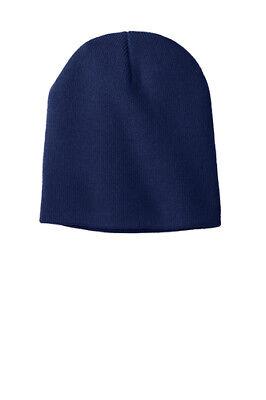 Unisex Adult Knit Skull Cap Beanie NAVY BLUE NEW CP94 Port & (Company Knit Skull Cap)