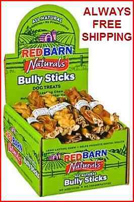 RED BARN BRAIDED 7 INCH BULLY STICKS - 20 COUNT