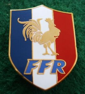 France FFR Rugby 1 inch Pin Badge