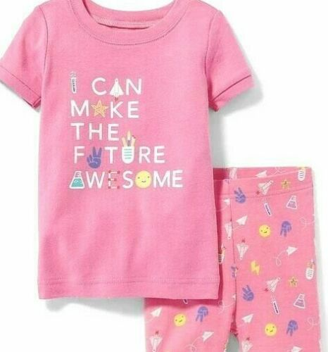 NWT GIRLS OLD NAVY PAJAMAS PJS SIZE 4T 2 pc set Shorts Future Awesome summer