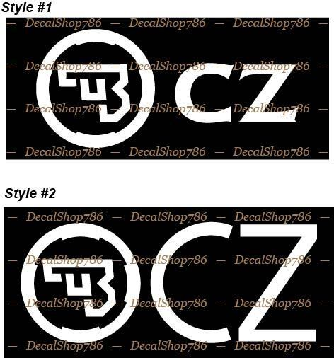 Home Decoration - CZ Firearms -Hunting/Shooting/Outdoor Sports- Vinyl Die-Cut Peel N' Stick Decals