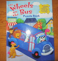 The WHEELS ON THE BUS == Puzzle Book = New