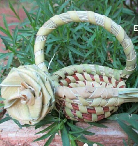 Palmetto Rose Sweetgrass Minature Basket