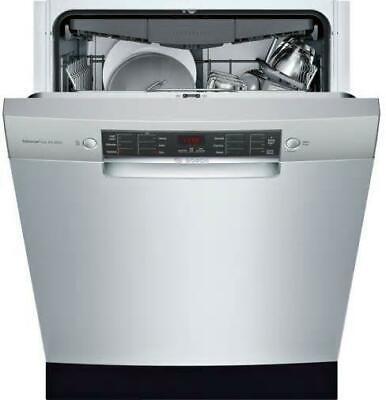 "Bosch 800 Series 24"" 44 dBA 15 Setting Dishwasher SGE68X55UC Perfect Front"