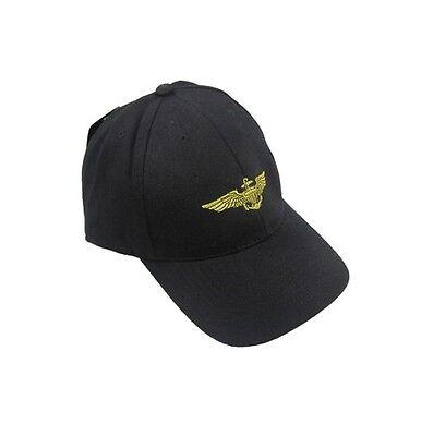 Noir ÉTATS-UNIS MARINE Pilot ailes Casquette Baseball - pic chapeau soleil Marine-pilot