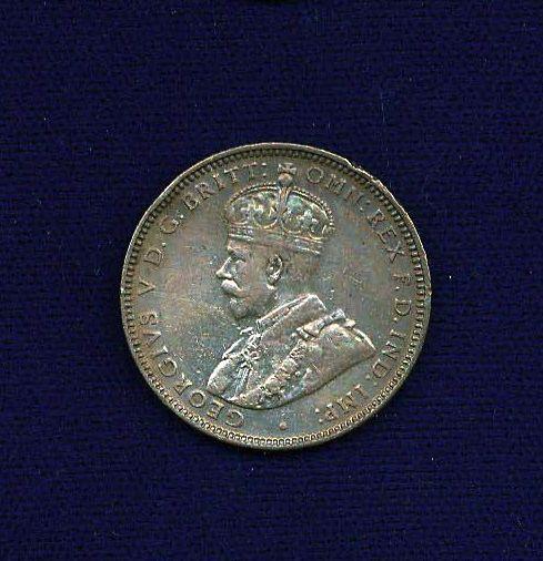 AUSTRALIA  GEORGE V   1928  1 SHILLING SILVER COIN  XF