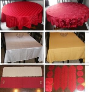 Nappes, Chemins de Table, Centres de Table, Napperons...