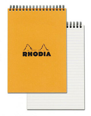 Rhodia Wirebound - Notebook - Orange - Lined - 80 Sheets - 6 X 8.25 - New R16501