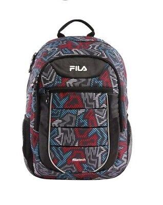 FILA NWT Argus 2 II Mesh Backpack FL-BP-1475-GE Red Blue Gray Black filatech Bp Mesh Backpack