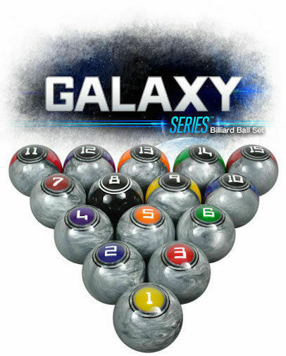 McDermott Galaxy Lunar Rocks Regulation Pool Billiard Balls  + FREE SHIPPING!
