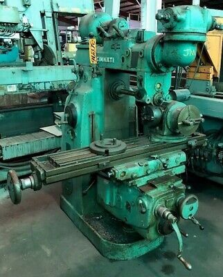 Cincinnati Horizontal Mill No. 2mi Universal Overarm 10 X 52 Table 30396