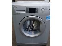 Silver Beko washing machine. Large 7kg load in excellent condition. Can drop off free if local