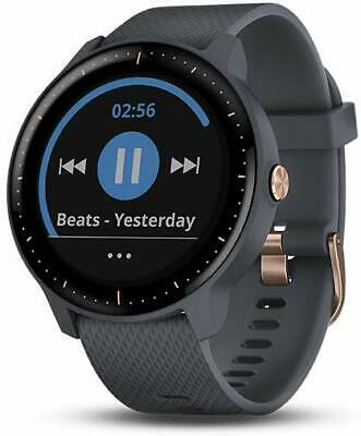 Garmin Vivoactive 3 Music GPS Smartwatch- Granite Blue Rose Gold