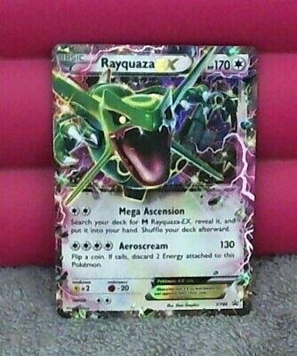 Authentic Pokemon RAYQUAZA EX - XY66 - BLACK STAR Promo card