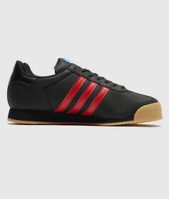 adidas Originals Samoa Black/Red Vintage 80's Training Shoes Trainers ALL SIZES