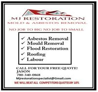 ASBESTOS & MOULD REMOVAL, WE WILL BEAT ALL COMPETITORS QUOTES!