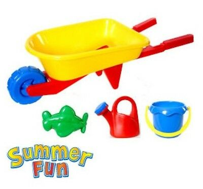 NEW SUMMER FUN KIDS WHEELBARROW PLAYSET FOR BEACH OR GARDEN TOY BEST