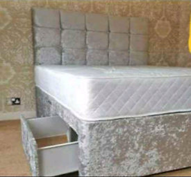 ♥️Beautiful crush velvet beds!!FREE DELIVERY 🚛
