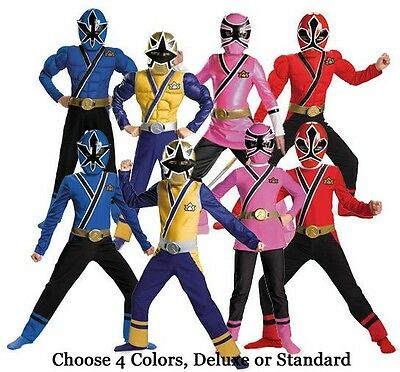 Power Rangers Child Costume (Child TV Show Nick Super Power Rangers Samurai Classic Deluxe Muscle STD)