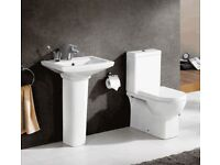 Basin an toilet suite (ex display) for £149