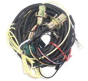 67 Mustang Tail Light Wiring Harness w/o Low Fuel Lamp & Sockets, Fastback/Coupe
