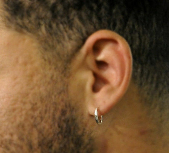 Sterling Silver Is Durable And Always In Style Making It A Great Option For Men S Earring Hoop Earrings Are Available Wide Range Of