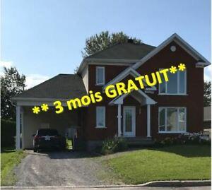 3 mois GRATUIT - Grande maison à louer