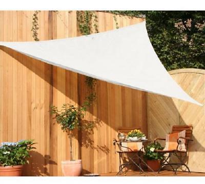Peddy Shield 3m x 3m Triangle Shade Sail Cream