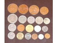 Coin Collection - multi national. Dated 1960's non precious metal. Ideal starter set