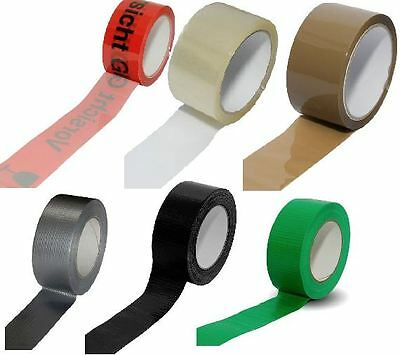 Packetband Adhesive Tape Packing Tape Duct Tape Transparent Brown Warning Glass