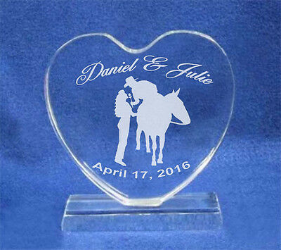 Lg Western Horse Personalized Wedding Cake Topper NEW
