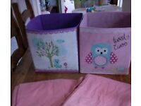 Girls canvas boxes