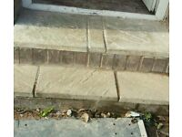 Block paving bricks and slabs