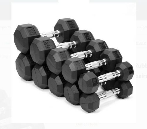 10#, 15#, 20#, 25#, 30#, 35# OR 40# WEIDER RUBBER COATED HEX DUMBBELLS / WEIGHTS