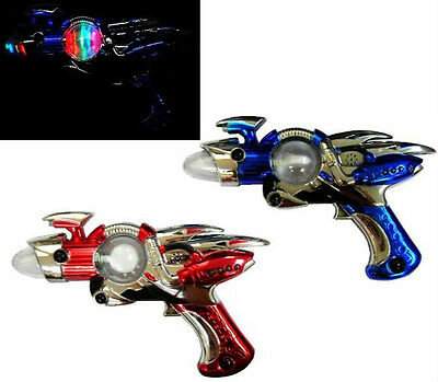 LIGHT UP OUTER SPACE SPIN GUN B/O kids pretend toy guns alien shooter toys NEW
